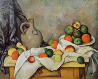 Paul Cézanne Curtain, jug, and compotier
