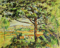 Paul Cézanne Grand pin et terres rouges