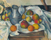 Paul Cézanne Kettle and fruits