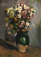 Paul Cézanne Still Life with Flowers in an Olive Jar