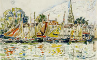 Paul Signac Fishing Boats, Le Pouliguen