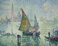 Paul Signac The Green Sail, Venice