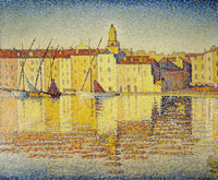 Paul Signac Houses in the Port, Saint-Tropez, Opus 237