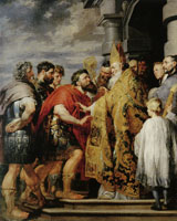 Peter Paul Rubens and Anthony van Dyck Saint Ambrose and Emperor Theodosius