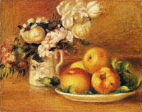 Pierre-Auguste Renoir Apples and Flowers