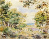 Pierre-Auguste Renoir Landscape at Beaulieu