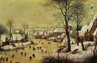 Pieter Bruegel the Elder Winter landscape with skaters