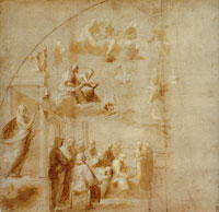 Raphael Compositional Study for the Left-Hand Side of the 'Disputa'