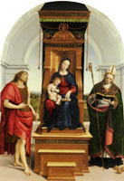 Raphael The Enthroned Virgin and Child with Saints John the Baptist and Nicholas of Bari