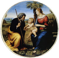 Raphael Holy Family under a Palm Tree