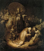 Rembrandt The adoration of the Magi
