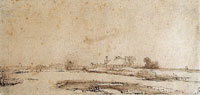 Rembrandt Landscape with a Farmstead