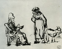 School of Rembrandt Tobit and Anna with the Goat