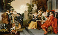 Dirck Hals Music-Making Company on a Terrace