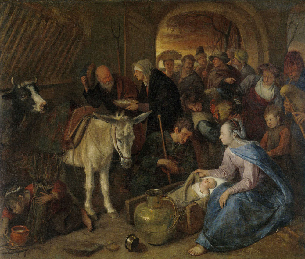 Jan Steen - The Adoration of the Shepherds