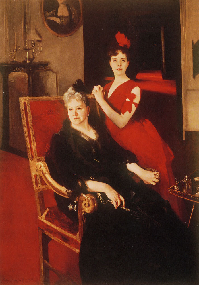 John Singer Sargent - Mrs Edward Burckhardt and her Daughter Louise