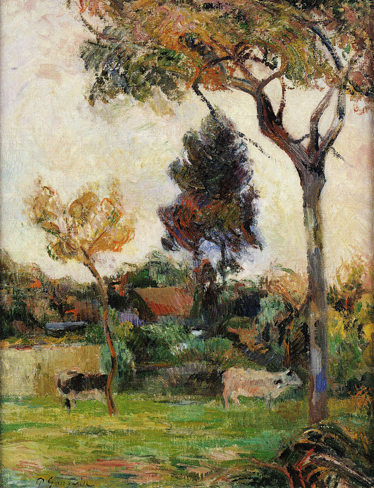 Paul Gauguin - Two Cows in the Meadow