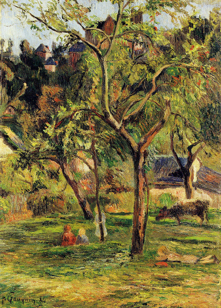Paul Gauguin - Orchard Below Bihorel Church