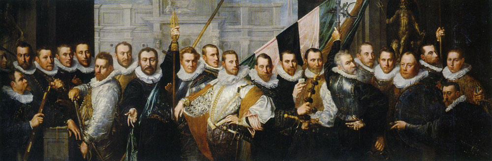 Pieter Isaacsz. - Civic Guardsmen from the Company of Captain Jacob Gerritsz. Hoing and Lieutenant Wybrand Appelman