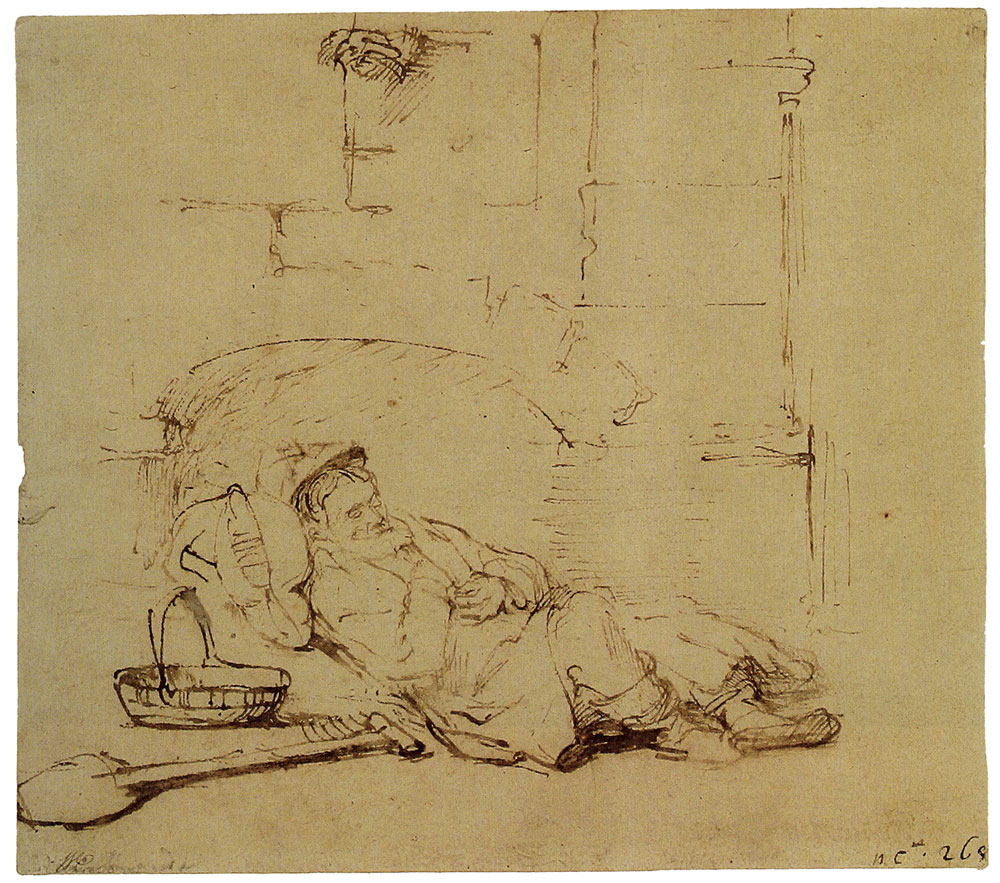 Rembrandt - Tobit Asleep