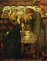 Dante Gabriel Rossetti Sir Tristram and La Belle Yseult Drinking the Love Posion