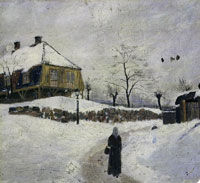 Edvard Munch Øvre Foss in Winter