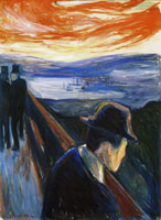 Edvard Munch Sick Mood at Sunset, Despair