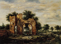 Jacob van Ruisdael A Ruined Castle Gateway