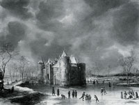 Jan Beerstraaten The Castle of Muiden in Winter