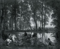 Jan Hackaert and Nicolaes Berchem A Stag Hunt in a Forest
