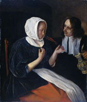 Jan Steen A Couple Drinking