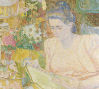 Jan Toorop Portrait of Marie Jeanette de Lange