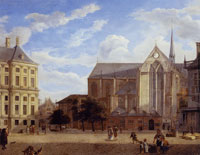 Jan van der Heyden Dam Square in Amsterdam