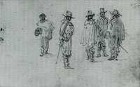 Jan van Goyen Study of five men