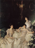 John Singer Sargent Lady Elcho, Mrs Adeane and Mrs Tennant or The Wyndham Sisters