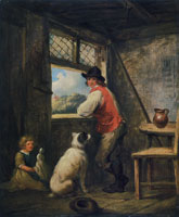 George Morland Peasant by a Window