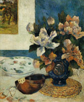 Paul Gauguin Still Life with Chinese Peonies and Mandolin