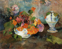 Paul Gauguin Vase of Nasturtiums