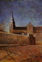Paul Gauguin Vaugirard Church by Night