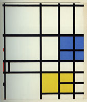 Piet Mondrian Composition No. 11. - London, with Blue, Red and Yellow