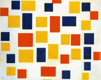 Piet Mondrian Composition with Colour Planes 1