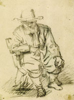 Rembrandt Old Man in Large Hat