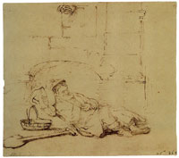 Rembrandt Tobit Asleep