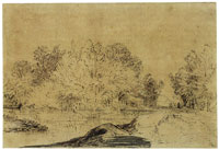Rembrandt A Wooded Road