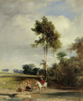 Richard Parkes Bonington Roadside Halt