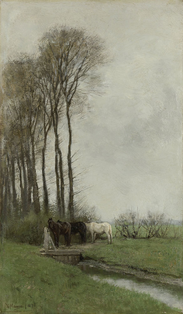 Anton Mauve - Horses at the Gate