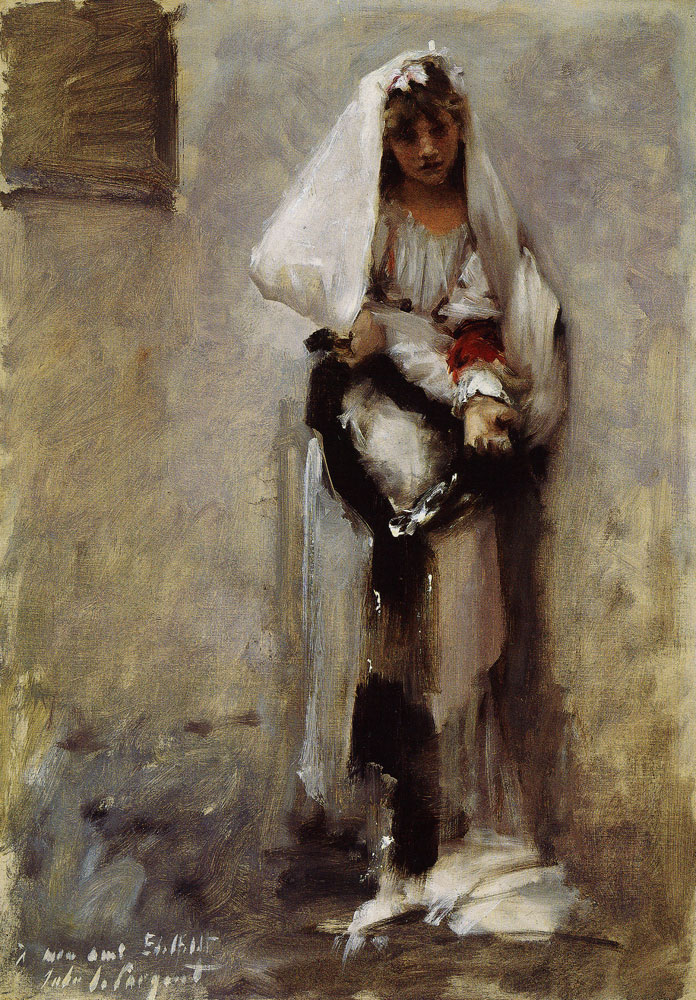 John Singer Sargent - A Young Girl Seeking Alms