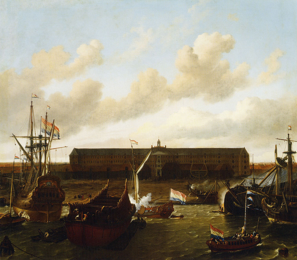 Ludolf Backhuyzen - The VOC Docks in Amsterdam