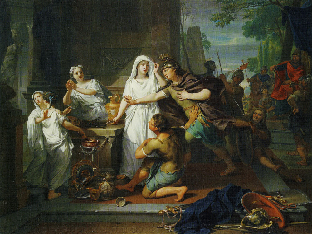 Nicolaas Verkolje - Orestes and Pylades in Tauris