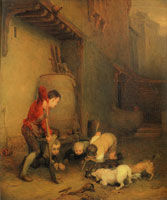 David Wilkie Boys Digging for Rats